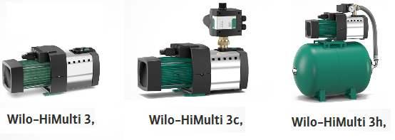 Водяные насосы wilo-HiMulti. типы