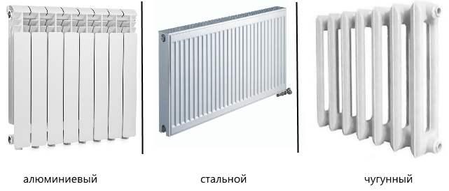 типы радиаторов