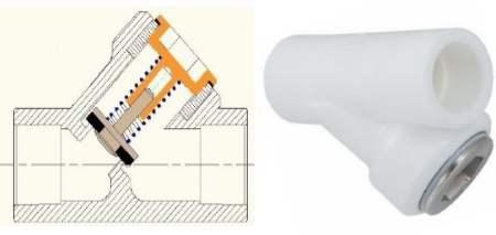 фото полипропиленовый обратный клапан