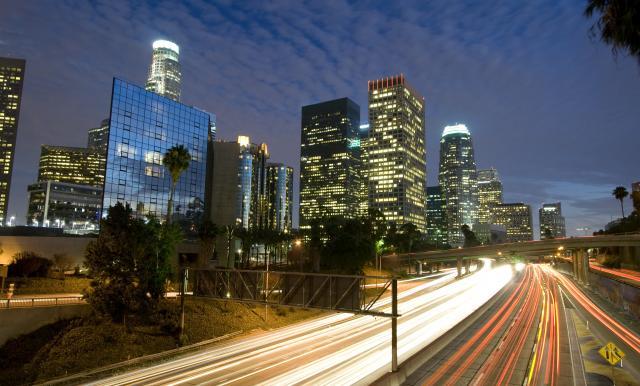 bigstock Los Angeles Skyline And Freewa 4583042 1