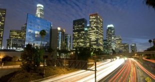 bigstock Los Angeles Skyline And Freewa 4583042