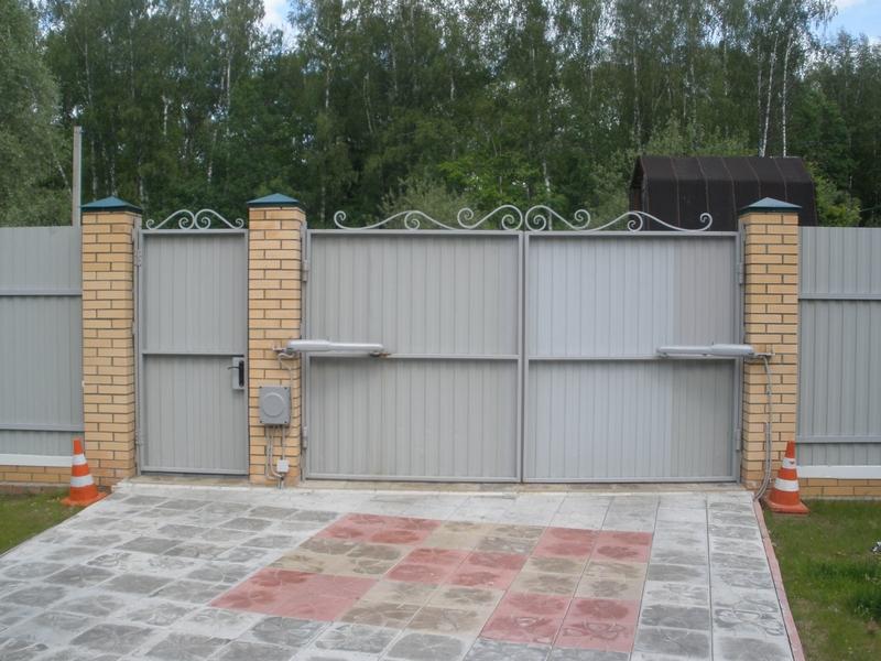 Въездные ворота для дачи своими руками 4