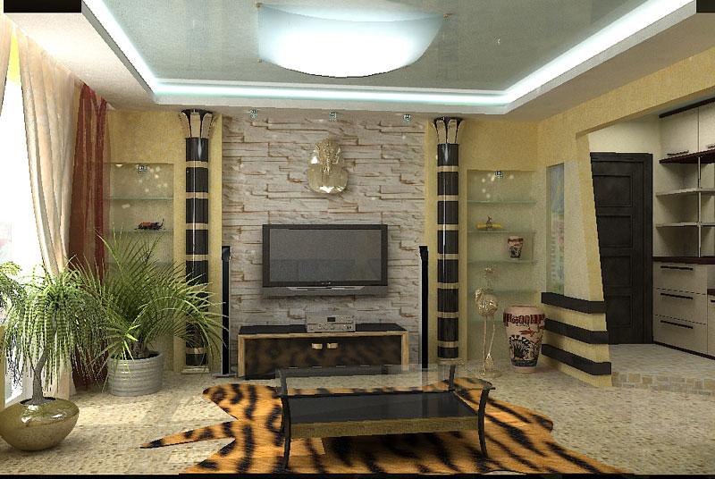 Современный интерьер в египетском стиле