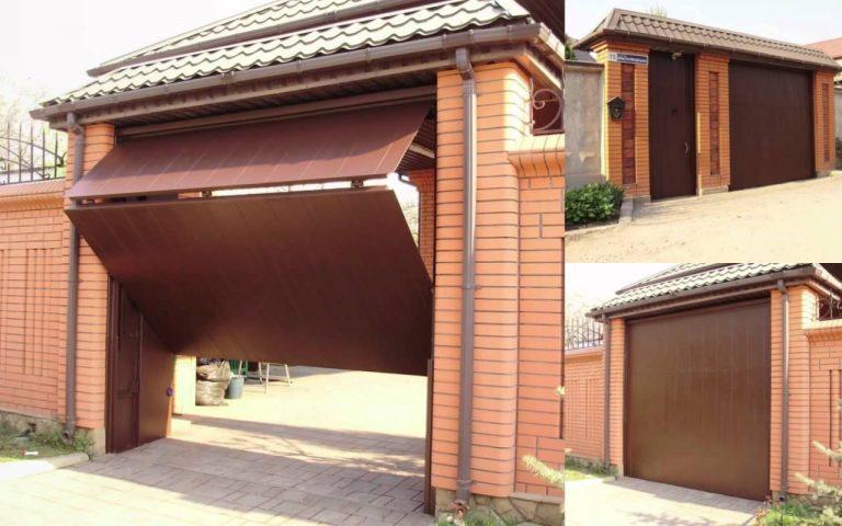 Складывающиеся ворота для гаража