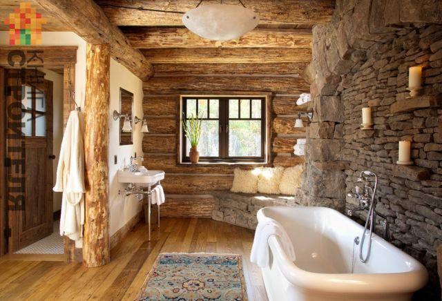 Ванная в стиле кантри выбираем оформление