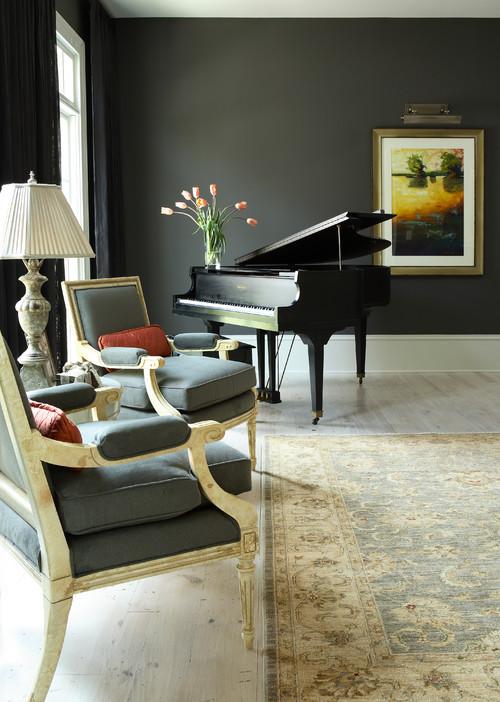 Рояль в дизайне интерьера