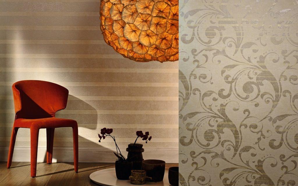 Декор стен с помощью обоев Линкруста