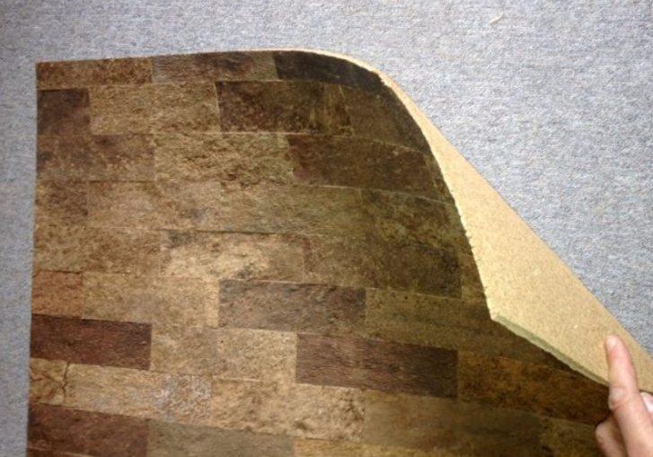 Пробка для стеновой отделки: жидкая пробка