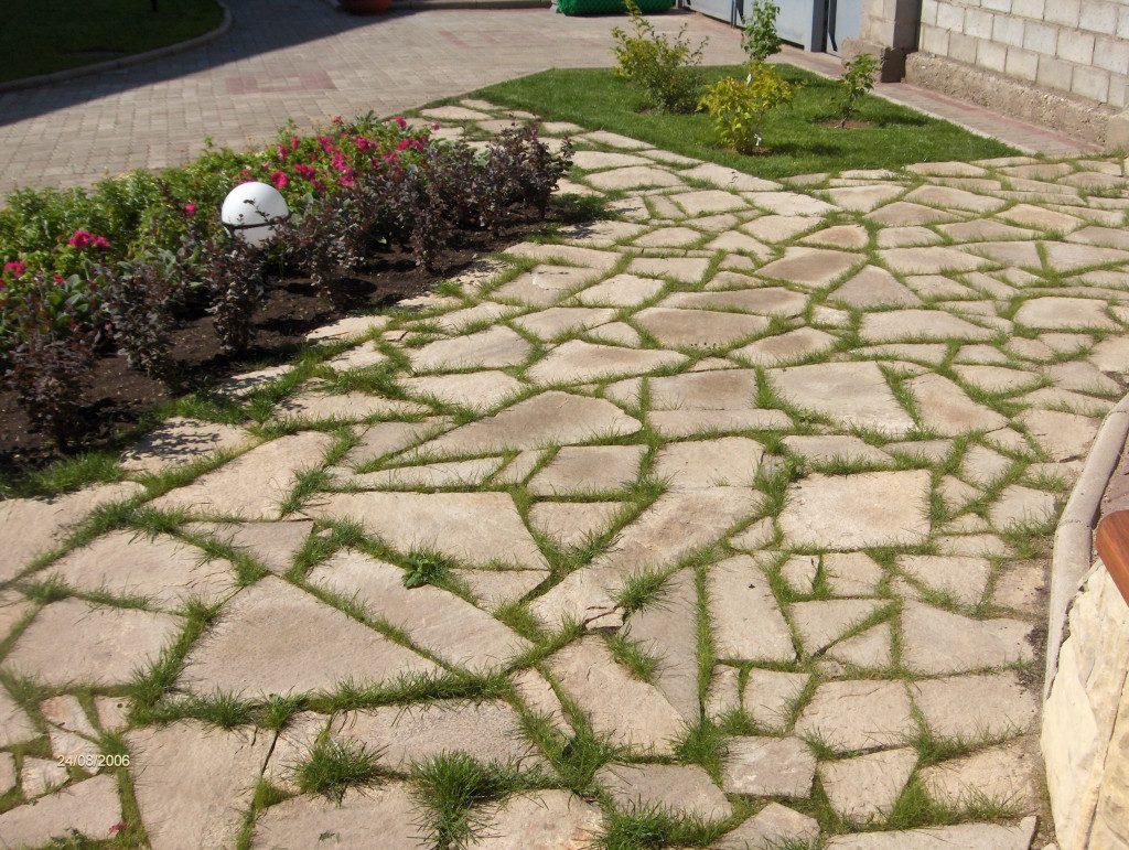 Натуральный камень для укладки дорожки