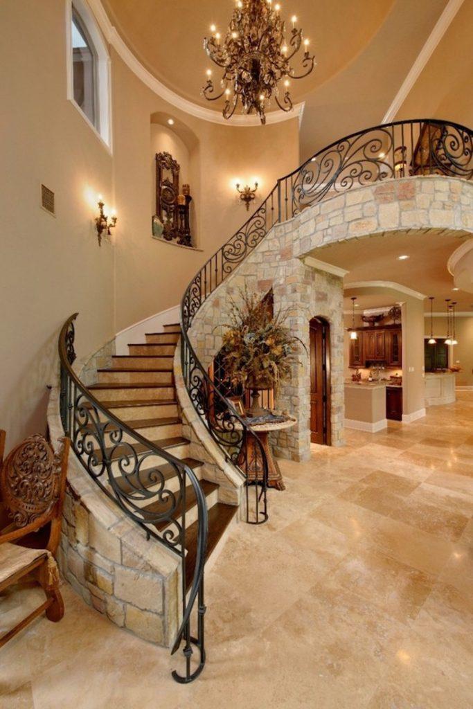 mediterranean staircase elegant decor ideas