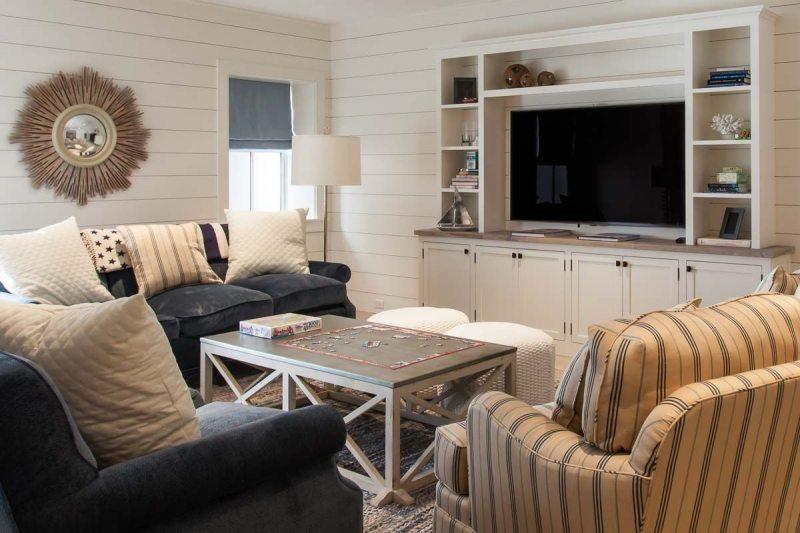 Телевизор в гостиной: декор помещения