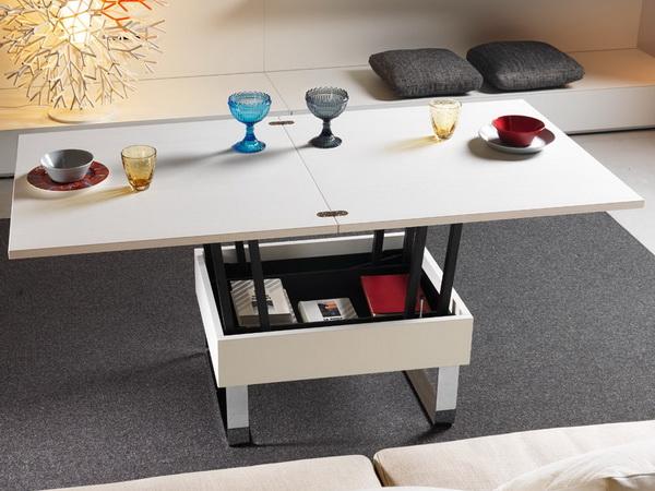 Стол-трансформер в интерьере кухни